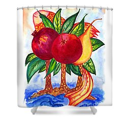 Symbolics Shower Curtain