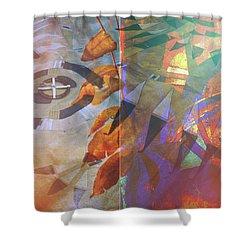 Symbolism No. 5 Shower Curtain by Toni Hopper
