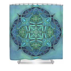 Symmetrical #12 Shower Curtain by Marion Sipe