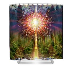 Symphonophobia Grounding Shower Curtain