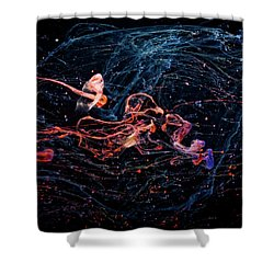 Symphony - Abstract Photography - Paint Pouring Shower Curtain