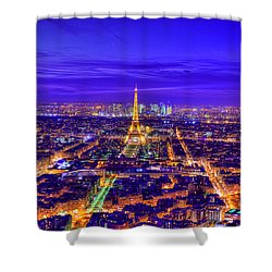 Symphony In Blue Shower Curtain