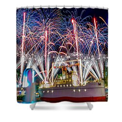 Symphony In The Stars As Seen Around Echo Lake Shower Curtain