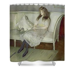 Symphony In White Shower Curtain by Paul Cesar Helleu