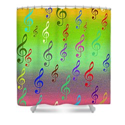 Symphony Of Colors Shower Curtain