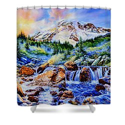 Shower Curtain featuring the painting Symphony Of Silence by Hanne Lore Koehler