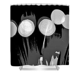 Synergy B/w Shower Curtain