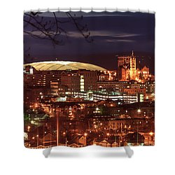 Syracuse Dome At Night Shower Curtain by Everet Regal