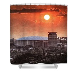Syracuse Sunrise Over The Dome Shower Curtain by Everet Regal
