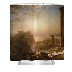 Syria By The Sea Shower Curtain by Frederic Edwin Church
