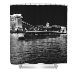 Szechenyi Chain Bridge Budapest Shower Curtain