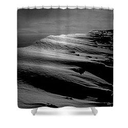 T-213312 Windblown Ice On Humphreys Peak Shower Curtain