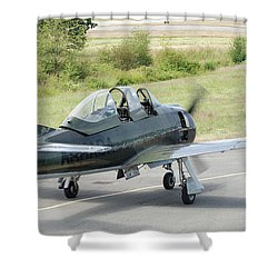 T-28 Taxiing Out Shower Curtain