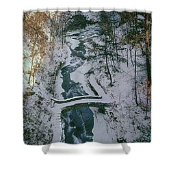 T-31501 Gorge On Cornell University Campus Shower Curtain