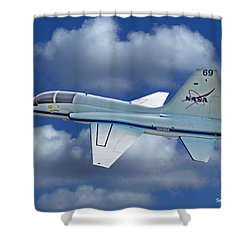 T-38 Nasa Trainer Shower Curtain