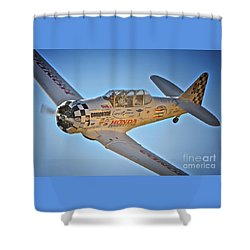 T-6 Texan Race 90 Shower Curtain