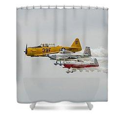 T-6 Texan   Rv-8   Dr-107 Shower Curtain by Susan  McMenamin