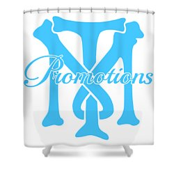Shower Curtain featuring the drawing T And M Promotions Logo by Nicholas Grunas