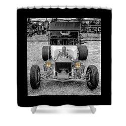 T Bucket Shower Curtain