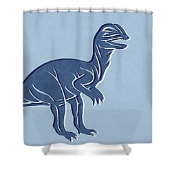 T-rex In Blue Shower Curtain