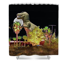 T-rex In The Desert Night Shower Curtain