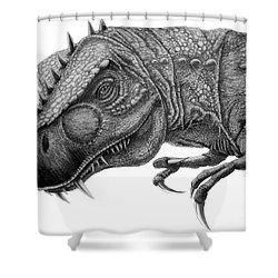 T-rex Shower Curtain by Murphy Elliott