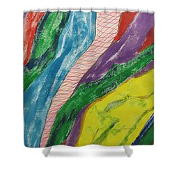 Shower Curtain featuring the painting Artwork On T-shirt - 0010 by Mudiama Kammoh