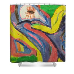 Artwork On T-shirt 0011 Shower Curtain