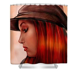 T-whizzle Shower Curtain by Pete Tapang