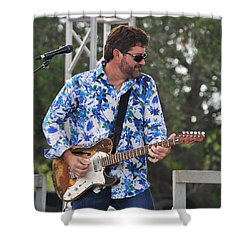 Tab Benoit And 1972 Fender Telecaster Shower Curtain