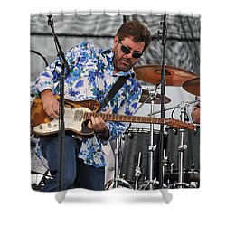 Tab Benoit Plays His 1972 Fender Telecaster Thinline Guitar Shower Curtain