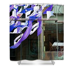 Shower Curtain featuring the photograph Table For Two by Chris Dutton