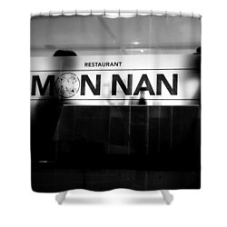 Shower Curtain featuring the photograph Table For Two by Valentino Visentini