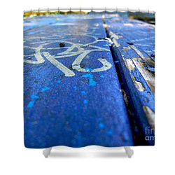 Table Graffiti Shower Curtain