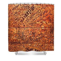 Table Graffiti Shower Curtain by Todd Klassy