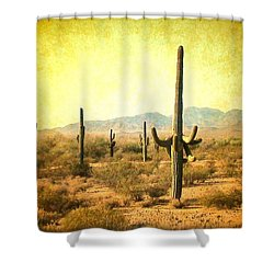 Table Moumtain Vintage Western Shower Curtain