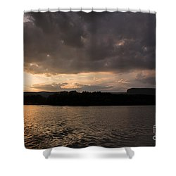Table Rock Sunset Shower Curtain by Robert Loe