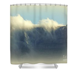 Table Rock With Cloud 2 Shower Curtain