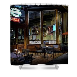 Tables At Night Shower Curtain
