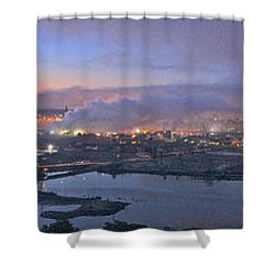 Tacoma Dawn Panorama Shower Curtain