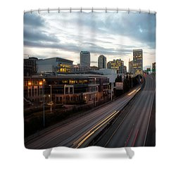 Tacoma Exit Here Shower Curtain