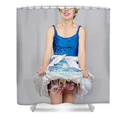 Taetyn In Jelly Fish Dress Shower Curtain