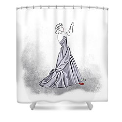 Shower Curtain featuring the digital art Taffeta Gown by Cindy Garber Iverson