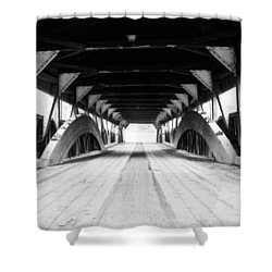 Taftsville Covered Bridge Shower Curtain by Greg Fortier