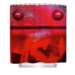 Tagged Metal  Shower Curtain