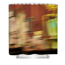 Shower Curtain featuring the photograph Tagged - Train Graffiti by Jane Eleanor Nicholas