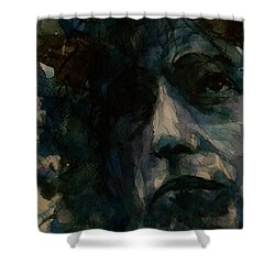 Tagged Up In Blue- Bob Dylan  Shower Curtain