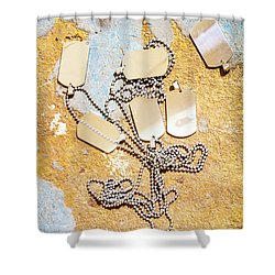 Tags Of War Shower Curtain by Jorgo Photography - Wall Art Gallery