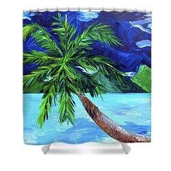 Tahiti Beach Shower Curtain by Beth Cooper