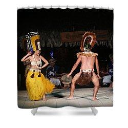 Tahitian Dancers Shower Curtain